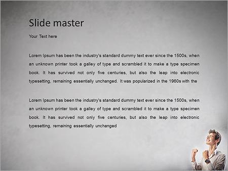 Шаблон PowerPoint Торжествующей бизнесмен - Второй слайд
