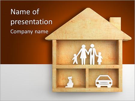 Шаблон презентации Дом для семьи - Титульный слайд