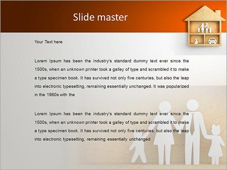 Шаблон PowerPoint Дом для семьи - Второй слайд