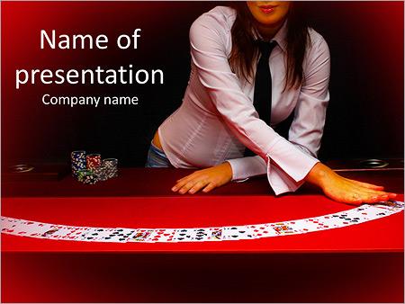 Шаблон презентации Карты на столе в казино - Титульный слайд