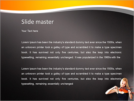 Шаблон PowerPoint Молодая женщина скрипачка - Второй слайд
