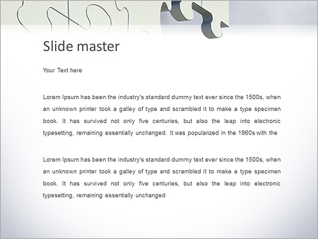 Шаблон PowerPoint Бизнесмен решает головоломку - Второй слайд