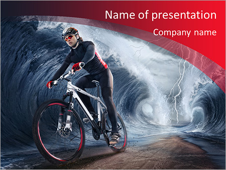 Шаблон презентации Велосипедист - Титульный слайд