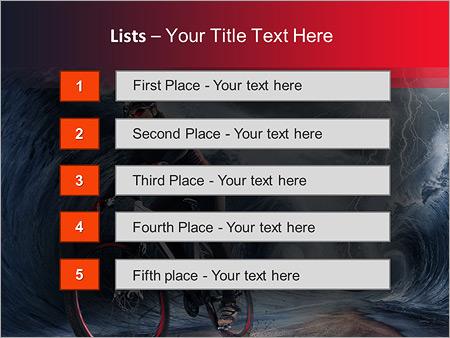 Шаблон для презентации Велосипедист - Третий слайд