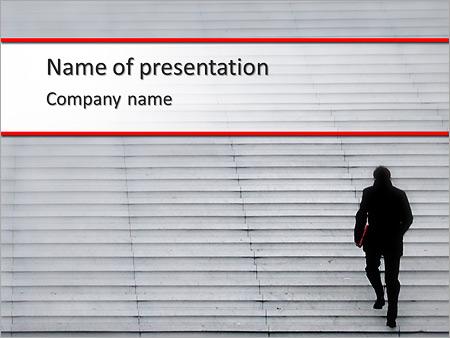 Шаблон презентации Вверх по лестнице - Титульный слайд
