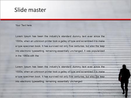Шаблон PowerPoint Вверх по лестнице - Второй слайд