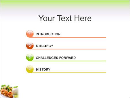 Шаблон для презентации Креветки с овощами и рисом - Третий слайд