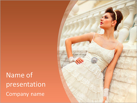 Шаблон презентации Невеста в свадебном платье - Титульный слайд
