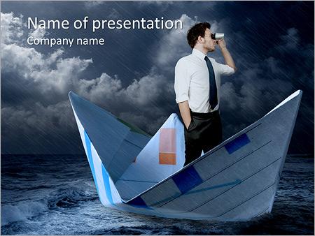 Шаблон презентации Бизнесмен ищет новые пути развития - Титульный слайд