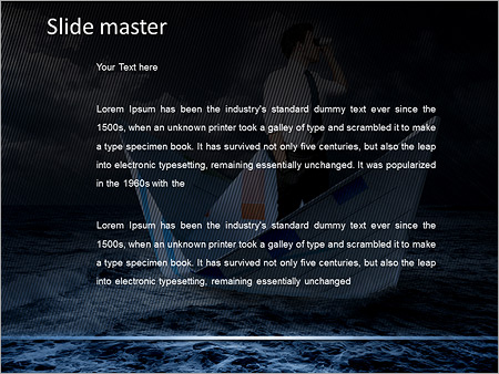 Шаблон PowerPoint Бизнесмен ищет новые пути развития - Второй слайд