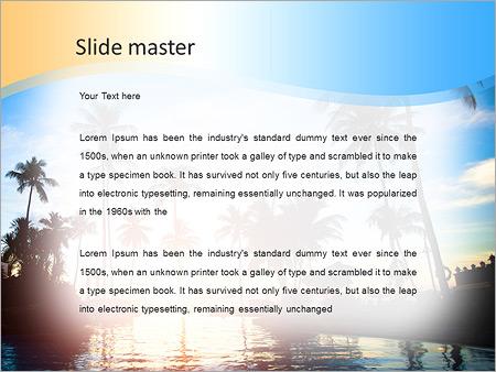 Шаблон PowerPoint Красивый закат на море в тропиках - Второй слайд