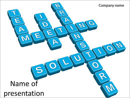 Шаблон презентации Бизнес кроссворд - Титульный слайд