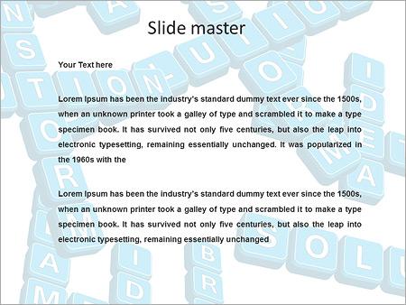 Шаблон PowerPoint Бизнес кроссворд - Второй слайд