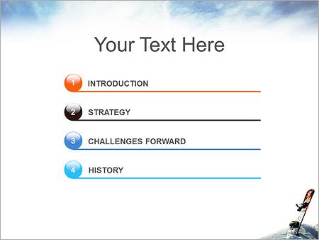 Шаблон для презентации Сноуборд в снегу - Третий слайд