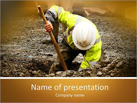 Шаблон презентации Работник коммунальных служб - Титульный слайд