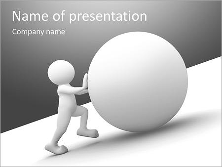 Шаблон презентации Человек толкает шар в гору - Титульный слайд
