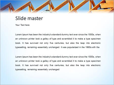 Шаблон PowerPoint Строитель делает крышу дома - Второй слайд