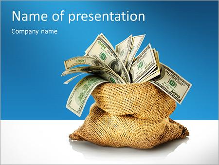 Шаблон презентации Мешок денег - Титульный слайд