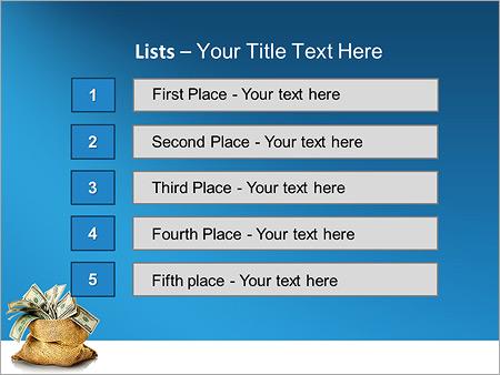 Шаблон для презентации Мешок денег - Третий слайд