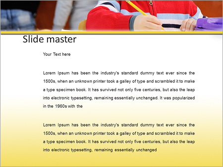 Шаблон PowerPoint Ученик за партой - Второй слайд