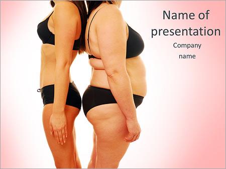 Шаблон презентации Толстая и худая женщины - Титульный слайд