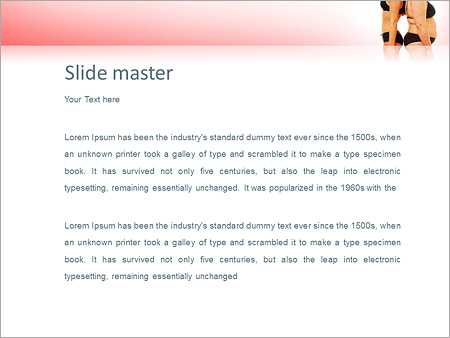 Шаблон PowerPoint Толстая и худая женщины - Второй слайд