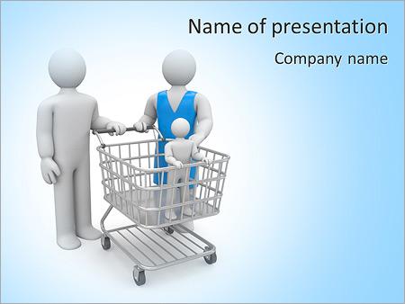 Шаблон презентации Поход за покупками по магазинам - Титульный слайд