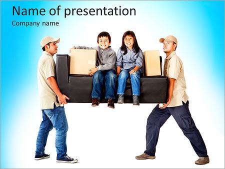 Шаблон презентации Грузчики и грузоперевозки - Титульный слайд