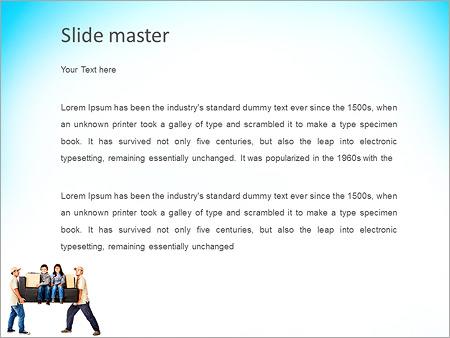 Шаблон PowerPoint Грузчики и грузоперевозки - Второй слайд