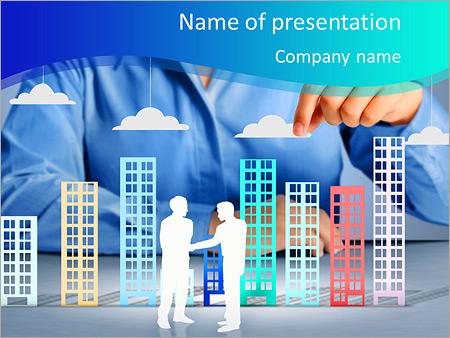 Шаблон презентации Строительство города в руках бизнесменов - Титульный слайд