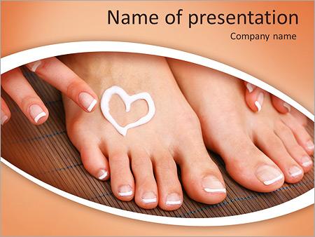 Шаблон презентации Уход за ногами с кремом - Титульный слайд