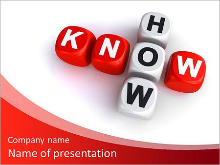 Шаблон презентации Знание - Титульный слайд