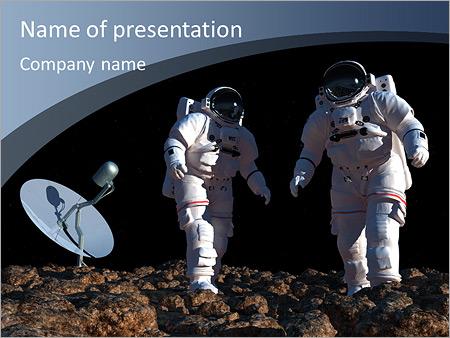 Шаблон презентации Космонавты на другой планете - Титульный слайд