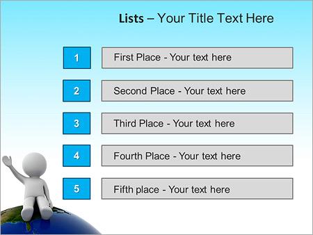Шаблон для презентации Человек сидит на планете - Третий слайд