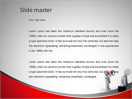 Шаблон PowerPoint Человек кричит через рупор - Второй слайд