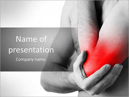 Шаблон презентации Боль в локте и руке - Титульный слайд