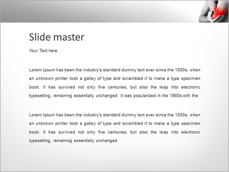 Шаблон PowerPoint Боль в локте и руке - Второй слайд