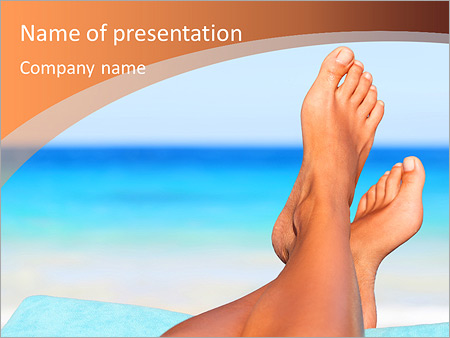 Шаблон презентации Отпуск на море - Титульный слайд