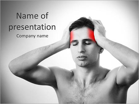 Шаблон презентации Головная боль - Титульный слайд