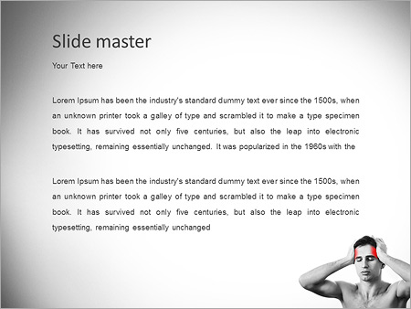 Шаблон PowerPoint Головная боль - Второй слайд