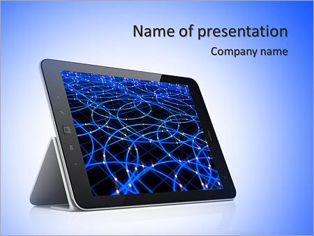Шаблон презентации Планшет - Титульный слайд