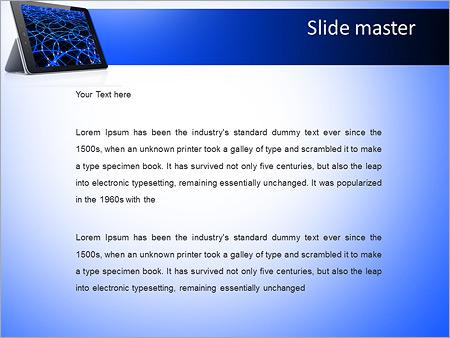 Шаблон PowerPoint Планшет - Второй слайд