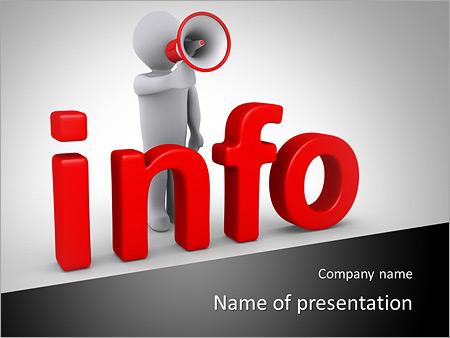 Шаблон презентации Человек с громкоговорителем - Титульный слайд