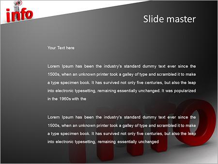 Шаблон PowerPoint Человек с громкоговорителем - Второй слайд