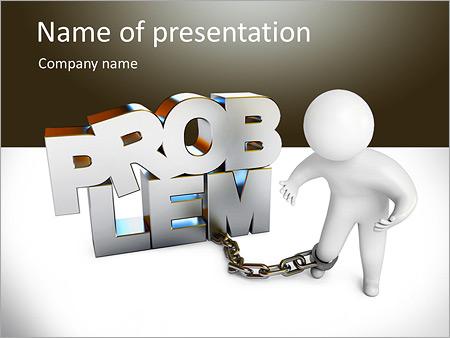 Шаблон презентации Человек не может решить проблемы - Титульный слайд