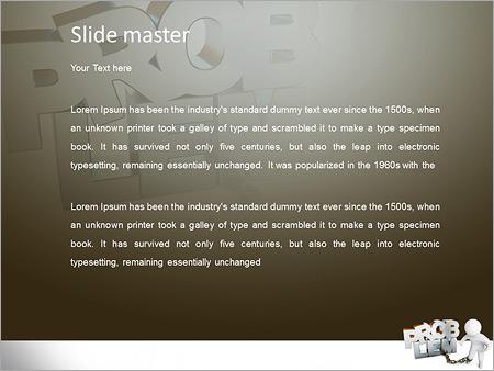 Шаблон PowerPoint Человек не может решить проблемы - Второй слайд