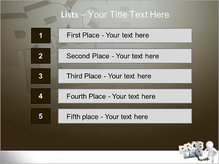 Шаблон для презентации Человек не может решить проблемы - Третий слайд