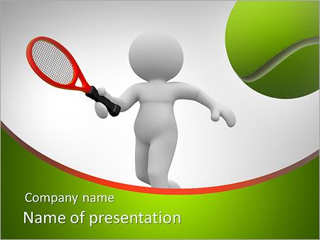 Шаблон презентации Игра в теннис - Титульный слайд