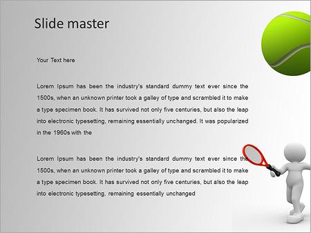 Шаблон PowerPoint Игра в теннис - Второй слайд
