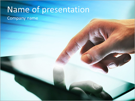 Шаблон презентации Смартфон фаблет - Титульный слайд